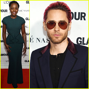 Jared Leto & Lupita Nyong'o Step Out for Glamour Women of the Year Awards 2015