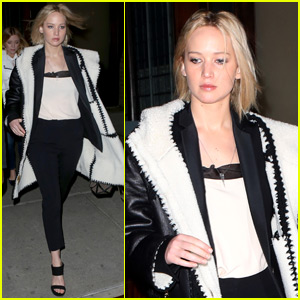 Jennifer Lawrence Has a Night Out on Broadway