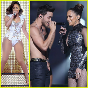 Jennifer Lopez Sings With Shirtless Prince Royce in Miami!