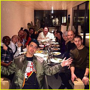 Joe & Nick Jonas Celebrate Thanksgiving in Airbnb Rental