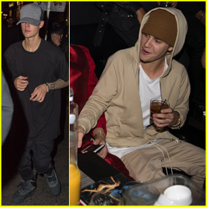 Justin Bieber Celebrates Pal French Montana's Birthday