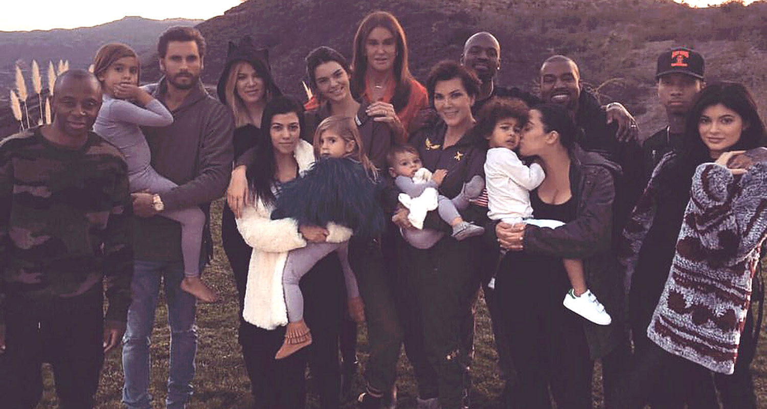 Kars Jenner with her family