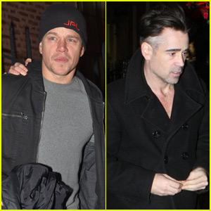 Matt Damon & Colin Farrell Hit Up the U2 Concert in Dublin