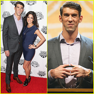 Michael Phelps & Pregnant Fiancee Debut Baby Bump At USA Swimming Golden Goggle Awards 2015!