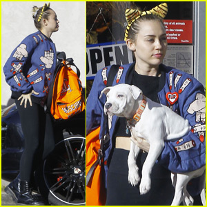 Miley Cyrus Adds Another Pup To Her Animal Fam!