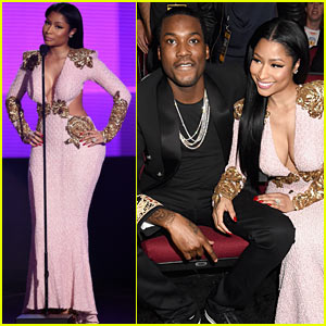Nicki Minaj & Meek Mill Couple Up at American Music Awards 2015!