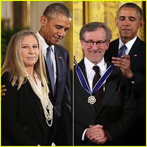 President Obama Awards Barbra Streisand & Steven Spielberg with Presidential Medal of Freedom!