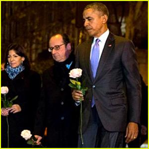 President Obama Visits Paris Attacks Memorial, Pays Tribute to Victims