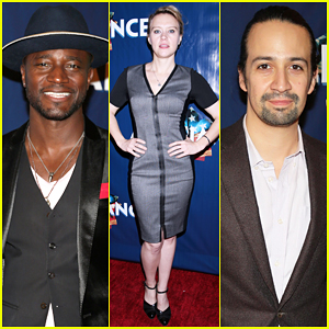 Taye Diggs & Lin-Manuel Miranda Step Out for 'Allegiance' Opening Night!