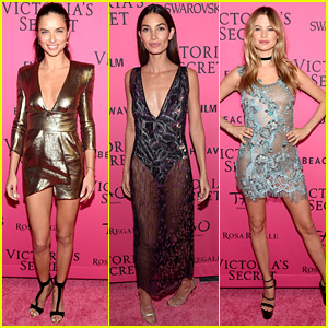 Victoria's Secret Angels Attend the Fashion Show After Party!