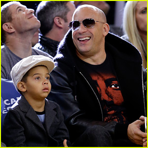 Vin Diesel Takes Son on Private Jet to Attend Basketball Game