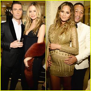 Adam Levine & John Legend Couple Up At Sinatra 100 All-Star Grammy Concert!