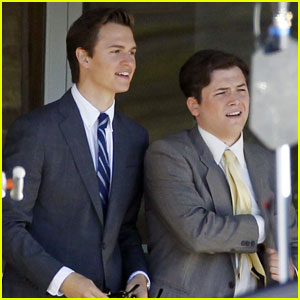 Ansel Elgort & Taron Egerton Continue Filming 'Billionaire Boys Club' in New Orleans