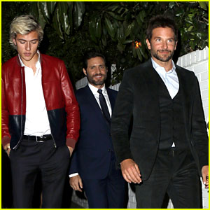 Bradley Cooper Hangs Out with Model Lucky Blue Smith