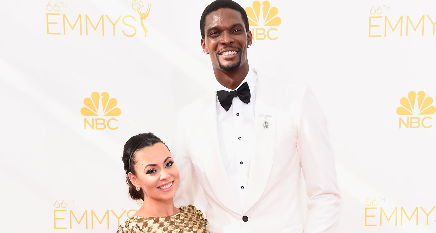 nba player chris bosh amp wife adrienne are expecting twins