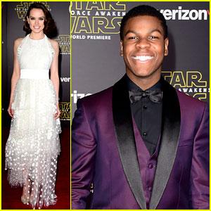 Daisy Ridley Stuns at 'Star Wars' Premiere with John Boyega
