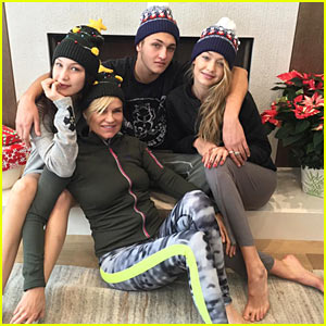 Gigi Hadid Celebrates White Christmas with Family