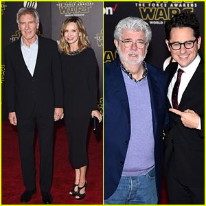 Harrison Ford Reunites with 'Star Wars' Co-Stars at 'Force Awakens' Premiere!