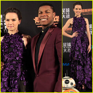 John Boyega & Daisy Ridley Premiere 'Star Wars' in Shanghai