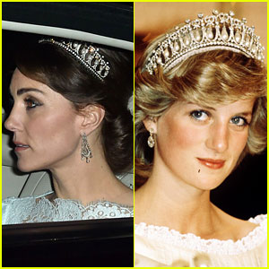 Kate Middleton Wears Princess Dianas Old Tiara