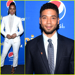 Kelly Rowland & Jussie Smollet Suit Up for the Pepsi Empire Viewing Party