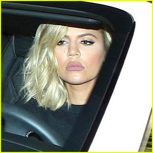 Khloe Kardashian Visits Kim & New Nephew in the Hospital