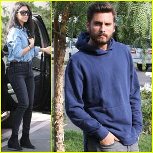 Kourtney Kardashian & Scott Disick Continue Friendly Outings