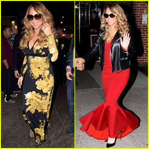 Mariah Carey Glams Up for Her Christmas Show Arrivals!