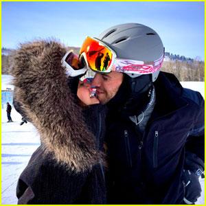Nina Dobrev & Boyfriend Austin Stowell Share a Snowy Kiss!