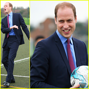 Prince William Plays Ball At Saltley Academy!