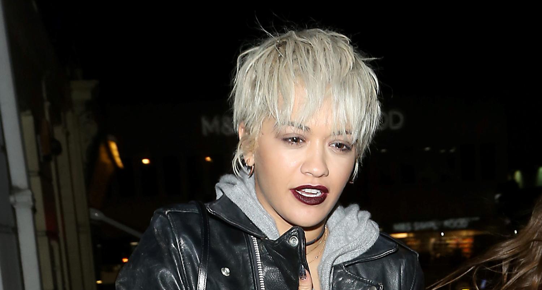 Rita Ora Debuts A New Platinum Blonde Pixie Cut Rita Ora Just Jared