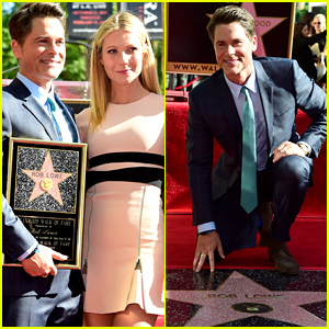 Gwyneth Paltrow Supports Rob Lowe at His Hollywood Walk of Fame Ceremony!