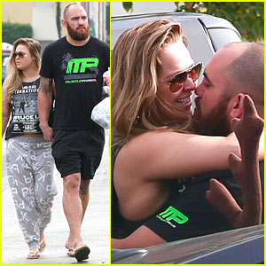 Ronda Rousey Kisses Travis Browne, Flaunts Rare PDA