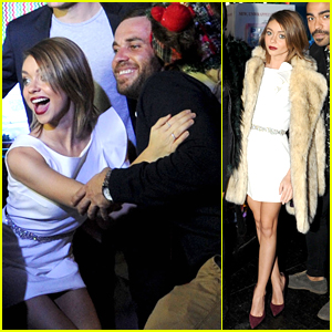 Sarah Hyland Gets In The Holiday Spirit At Toys For Tots Winter Wonderland