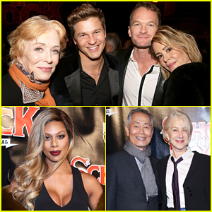 Sarah Paulson & Holland Taylor Couple Up with Neil Patrick Harris At 'School Of Rock' Broadway Opening!