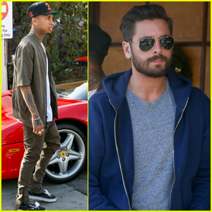 Scott Disick Grabs Lunch With Tyga Before Visiting Kim Kardashian