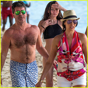 Simon Cowell & Lauren Silverman Continue Their Christmas Vacation