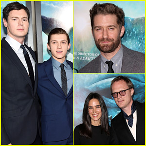 Tom Holland & Benjamin Walker Premiere 'In the Heart of the Sea' with Chris Hemsworth!