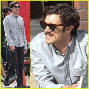Adam Brody Rocks A Serious Mustache for 'CHiPs'
