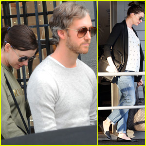 Anne Hathaway Spends the Day with Hubby Adam Shulman
