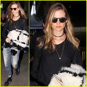 Behati Prinsloo Came Back Home to an Unexpected Visitor