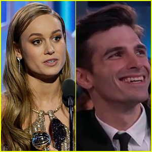 Brie Larson Thanks Boyfriend Alex Greenwald at Golden Globes