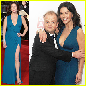 Catherine Zeta-Jones Stuns At 'Dad's Army' World Premiere!