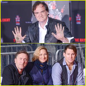 Channing Tatum & Christoph Waltz Support Quentin Tarantino at Hand & Footprint Ceremony!