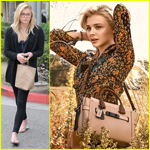 Chloe Moretz Gets Nails Done After New 'Coach' Ads Debut