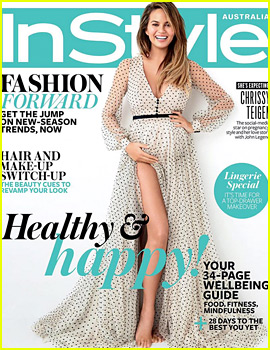Chrissy Teigen Cradles Her Baby Bump for 'InStyle Australia'