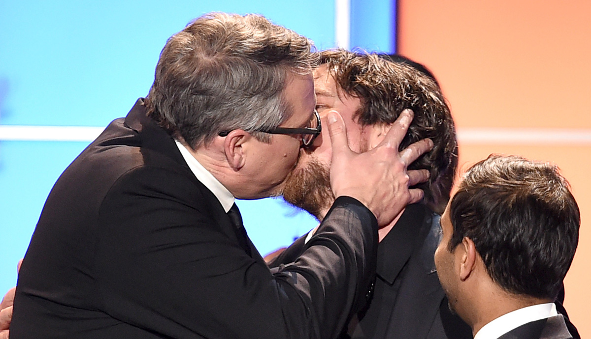 Christian Bale Made Out With Big Short Director Adam McKay At - Christian