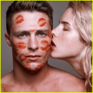 Colton Haynes & Emily Bett Rickards Swap Genders in Tyler Shields Shoot