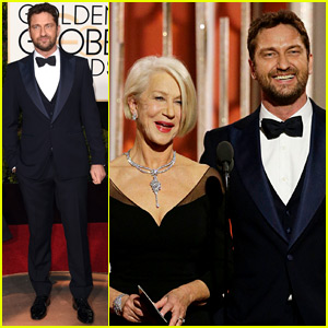 Gerard Butler Has a Suave Night Out at the Golden Globes 2016!