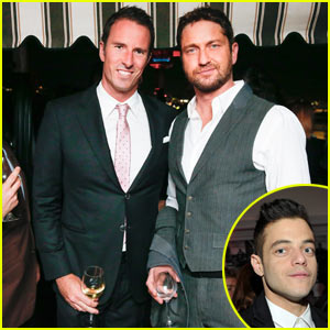 Gerard Butler & Rami Malek Ring in Golden Globes Weekend at Dom Perignon/W Party